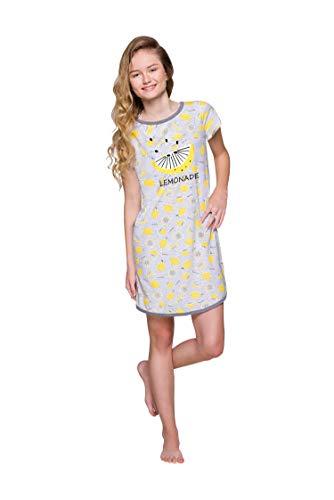 Taro Mädchen Girls Teenager Jugendlich Schlafanzüg mit Druckmotiv Zweiteiliger Jugendliche Baumwolle Viele Farben 146 152 158 cm (146 cm, 2308 Molly Nachthemd Zitrone)