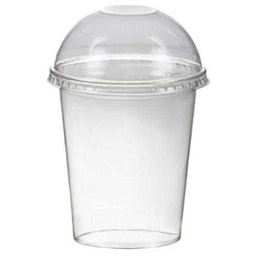 150 Stk. Smoothiesbecher Dessertbecher + Domdeckel 300 ml Ø95mm, PET, glasklar / PET Becher sind glasklare und bruchfeste Becher für Getränke, Desserts, Smoothies etc . Im Vergleich zu herkömmlichen Bechern sind PET-Becher deutlich stärker und robuster. Inkl. Domdeckel.