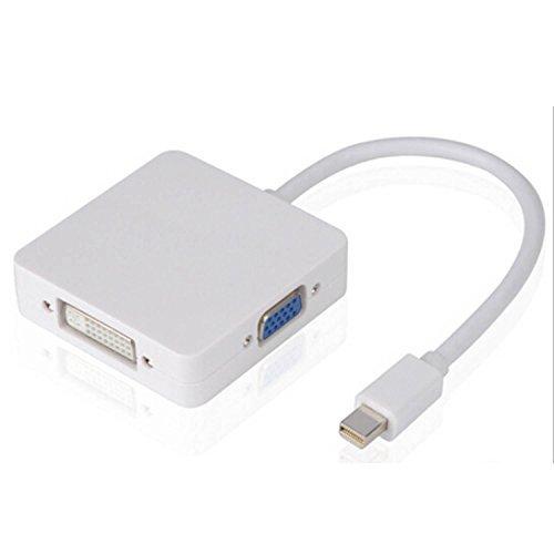 COOSA Mini DP a DVI + VGA + HDMI adaptador HDTV convertidor de cable adaptador