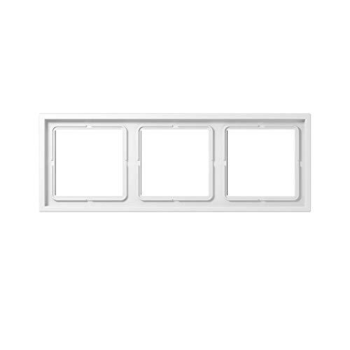 Jung LS Zero–Rahmen 3Elements 81x 223Serie termoplastico Alpine Weiß -