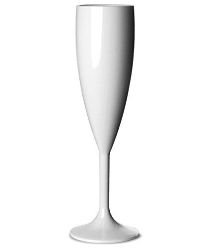 6 Flûtes à champagne incassables 18,7 cl, polycarbonate blanc