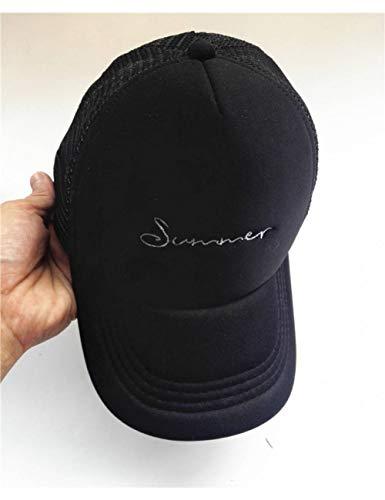 Brief Stickerei Baseball Caps Kind Sonne Strand Hut Mesh Trucker Hüte Boy Baby Snapbacks Knochen,Black ()