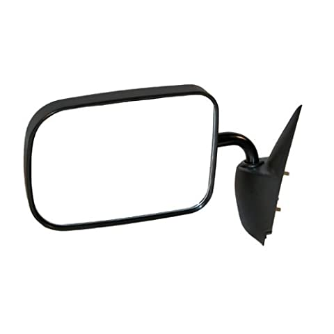 1994-1997 Dodge Ram 1500 2500 3500 Full Size Pickup Truck Manual Smooth Black Low Mount Type Folding (6x9 Glass) Rear View Mirror Left Driver Side (1994 94 1995 95 1996 96 1997 97) by Aftermarket Auto Parts - 97 Dodge Ram 1500 Pickup