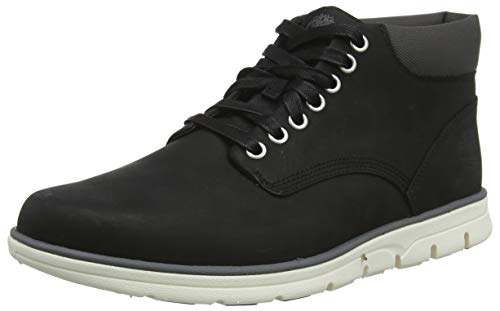 Timberland Bradstreet Leather Sensorflex, Stivali Chukka Uomo, Nero (Black Nubuck 001), 44 EU