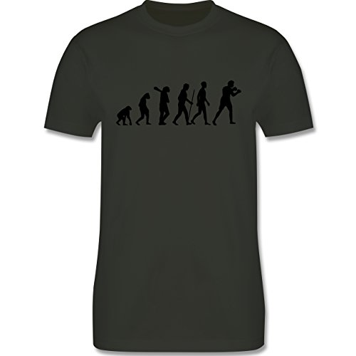 Evolution - Boxer Evolution - Herren Premium T-Shirt Army Grün