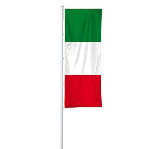 Vispronet® Nationalfahne 120x300 cm für Ausleger ✓ in Deutschland produziert ✓ versch. Materialien ✓ Hochformat (Standardqualität, Italien)