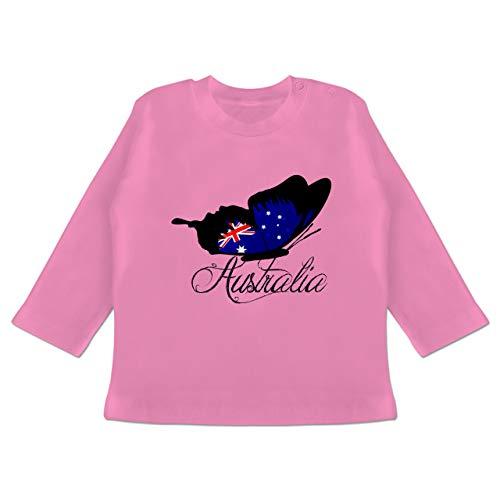 by - Schmetterling Australia - 12-18 Monate - Pink - BZ11 - Baby T-Shirt Langarm ()