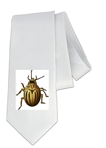 party-decoration-necktie-with-the-image-of-skalbagge-insect-caricature-betle-invertebrate-leaf-pest-