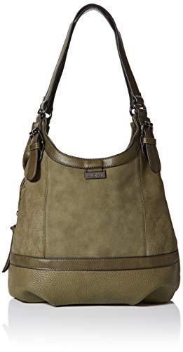 TOM TAILOR Shopper Damen, Juna Flash, Grün (Khaki), 31x29x14 cm, TOM TAILOR Schultertasche, Handtaschen Damen