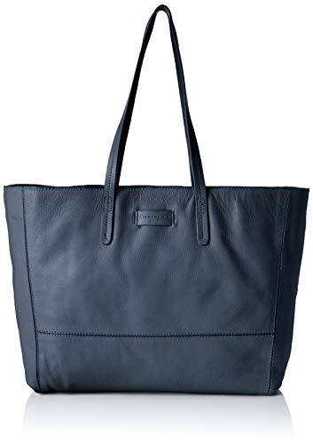 Liebeskind Berlin Damen Essential Shopper Large Schultertasche Blau (Navy Blue) 14x30x36 cm