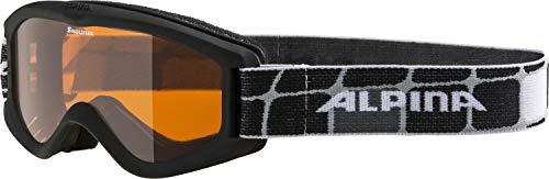Alpina Kinder Skibrille Carvy 2.0 black, One Size (Kleinkind Alpine Ski)