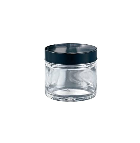 Kimble Type III Soda-Lime Glass Clear Wide-Mouth Straight Sided Jars with Tinfoil Cap Liner, Capacity 8oz (Case of