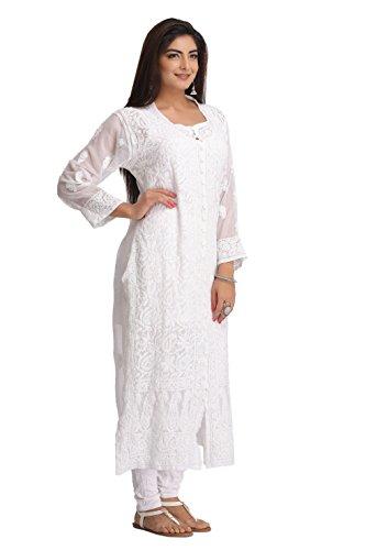 ADA-Lucknow-Chikan-Handmade-Casual-Wear-Faux-Georgette-Kurta-Kurti-A182371