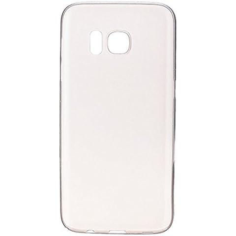 wanit UltraSlim Cover 0,3mm Custodia per Samsung Galaxy S7 Protettiva Copertura Posteriore Completo Ultra Sottile Opaca TPU Policarbon Paraurti Glassato Clear (Bianco)