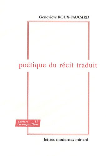 Poétique du récit traduit