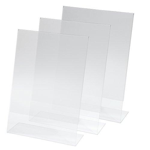 Kangaro SY110 Lot de 3 Présentoirs de table, 30 x 21 x 6,3 cm, acrylique transparent