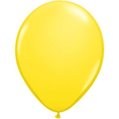 25 cm | Freie Farbauswahl | 17 Ballon Farben | partydiscount24® (Gelb) (Rosa Und Schwarze Ballons)