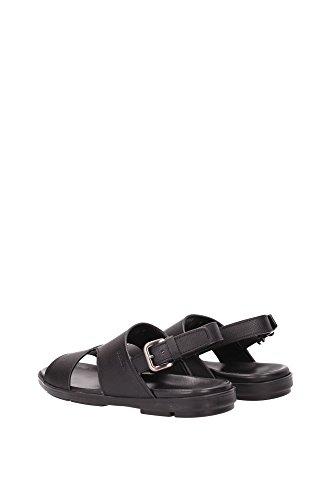 2X2951NERO Prada Sandale Homme Cuir Noir Noir