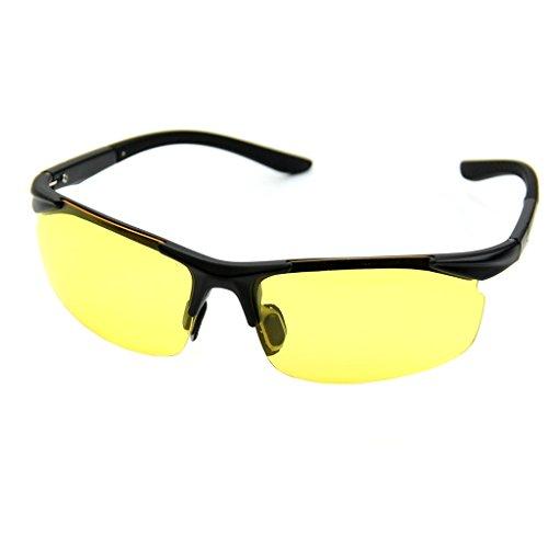 Sonnenbrille, UV400, gelbe Gläser, Nachtsicht, Fahren, Radfahren, Brille