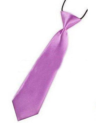 Kinder Jungen Baby Krawatte Binder Schlips Hochzeit Kommunion Konfirmation Party, Grösse Accessoire:Klein;Farbe:Flieder