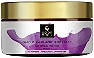 Good Vibes Brazilian Volcanic Purple Clay Age Defying Face Mask - 60 g - Boosts Collagen and Exfoliate for Ant
