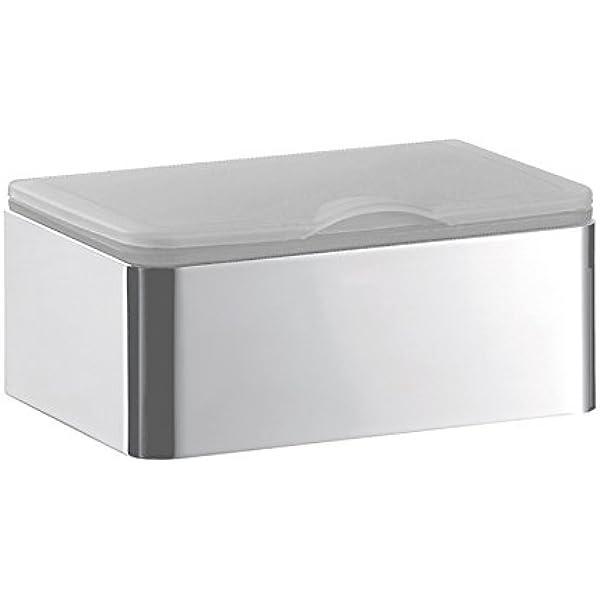 Toilet Paper Holder Polished Chrome Flushable Wipes Storage Box Wall Mounting