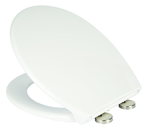 Croydex Luminoso Self Lighting Urea Toilet Seat with Quick Release and Stainless Steel Top Fix Soft Close Hinges, White Best Price and Cheapest