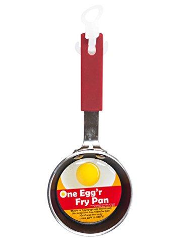 Artikel 4U. One eggõr Bratpfanne, Aluminium 1-Pack rot (Kleine Stir Fry Pan)