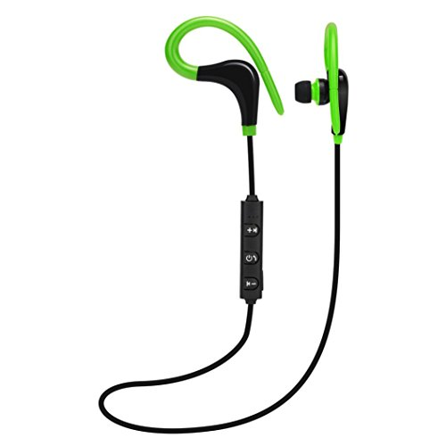 Cuffie wireless bluetooth, magiyard cuffie stereo senza fili cuffia del auricolare di bluetooth degli sport per il iphone verde verde 100cm