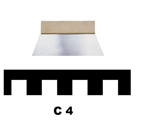 Leim Klebstoff Zahnspachtel Bodenleger Normalstahl C4 8x8mm gezahnt 180mm