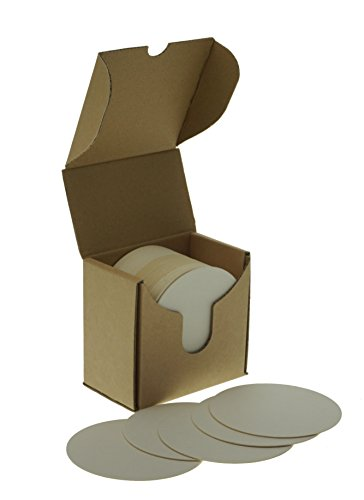 zezazu 10 cm rund Schwergewicht leer, weiß Papier Zellstoffplatte saugfähig Untersetzer für Getränke, DIY Handwerksprojekt, Buchdruck Papier, Zen Fliesen und Mini Kunst Bord weiß