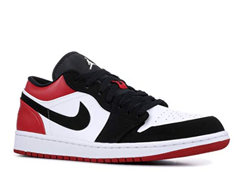Nike Herren AIR Jordan 1 Low Basketballschuhe, Weiß (White/Black/Gym Red 116), 45 EU -