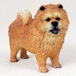 Chow Chow Hund Figur, rot