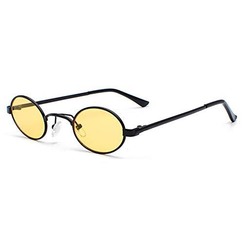 Kjwsbb Ovale Sonnenbrille Männer Kleiner Rahmen Vintage Frauen Sonnenbrille Retro runde Dekoration Gläser