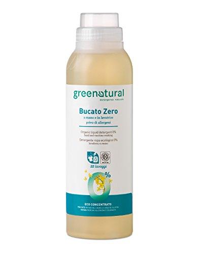 5ab9dba0ab GREEN NATURAL SAPONE LIQUIDO bucato zero 1 litro a mano lavatrice privo  allergeni senza profumi e