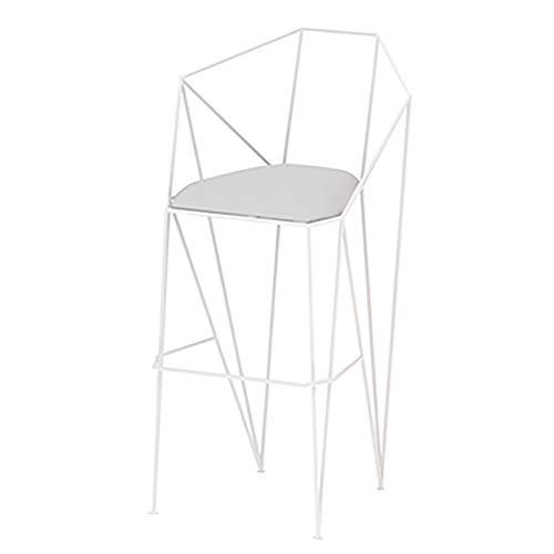 Sgabello da bar in ferro battuto creativo, sgabello alto semplice ed elegante, poltrona dal design ergonomico, portata portante robusta e resistente