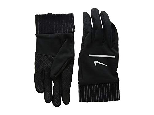 Nike Herren Mens Sphere Running Gloves 042 Black/Silver Handschuhe, L