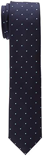 ESPRIT Collection Herren 998EO2Q805 Krawatte, Blau (Navy 400), One Size (Herstellergröße: 1SIZE)