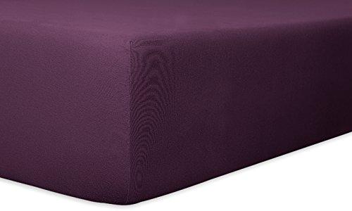 Kneer Spannbettlaken Easy-Stretch, brombeer, Größe Bettlaken:140 x 200 - 160 x 220