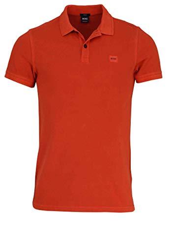 BOSS Herren Prime Poloshirt, Dark Orange 805, X-Large (Herstellergröße: XL)