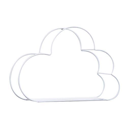 EisEyen Hierro Forjado Nube en Forma de Pared Colgante hogar Sala de Estar Dormitorio Almacenamiento Estante decoración de Pared sin Clavos (Blanco)