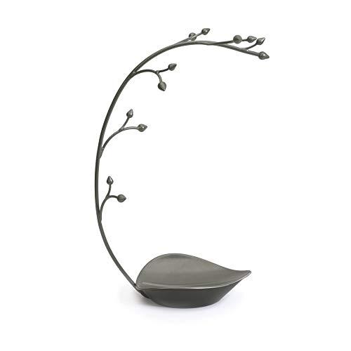 UMBRA Orchid jewelry stand. Arbre à bijoux Orchid. Métal gris anthracite. Dimension 22.9x14x38.1cm.