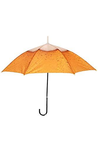 (Regenschirm mit Bier-Druck Stockschirm Kostüm-Zubehör JGA Junggesellenabschied)