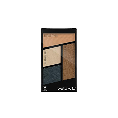 Wet 'n Wild Color Icon Eyeshadow Quads, Hooked On Vinyl, 4.5g