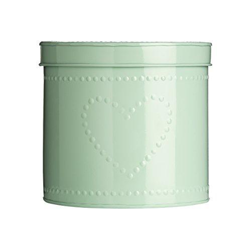 Premier Housewares 0507754 Scatola di Stoccaggio Disegno Del Cuore Punteggiato Pastello Verde