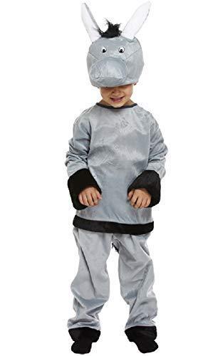 Fancy Me Jungen Mädchen Grau Esel Weihnachten Krippe Verkleidung Kostüm Outfit 3-12 Jahre - grau, 10-12 Years (Krippe Kostüm)