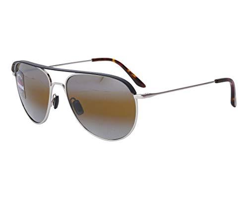 Vuarnet Sonnenbrillen Cap (VL-1813 0001-7184) matt schwarz - silber - grau-braun verlaufend mit silber verspiegelt effekt