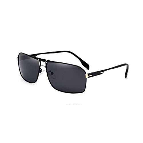 Schutz Sonnenbrillen Aviator Wayfar-er Sportrunde- Herren New Square Polarized Hipster Gläser Fahren (Farbe : C)