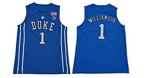 langjitianya Zion Williamson #1 Duke NCAA Maillot de Basketball, Blue Devils Basketball Jersey (M)