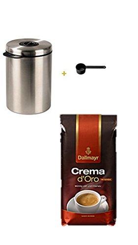 Xavax Kaffeedose für 1kg Kaffeebohnen, Tee, Kakao, mit Aromaverschluss, Edelstahldose, silber +...